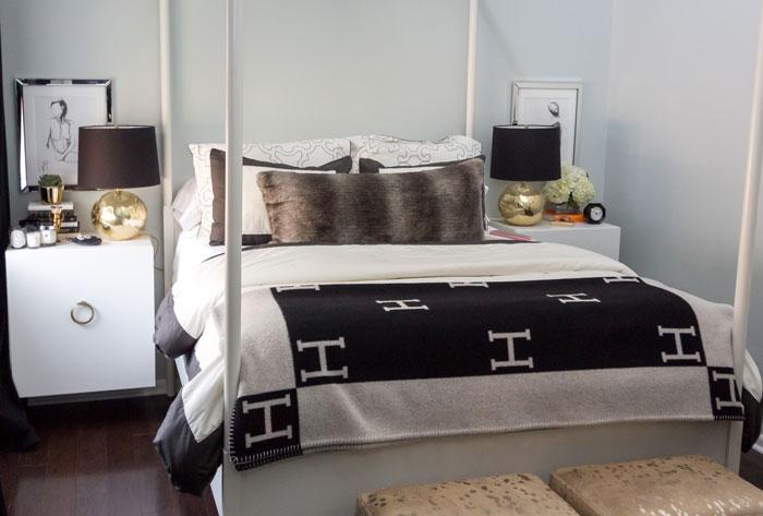 Hermes Avalon Blanket Contemporary Bedroom Confetti