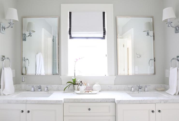 carrara marble countertops - transitional - bathroom - benjamin