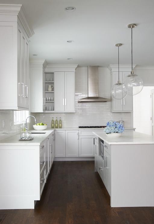 Light Gray Center Island Transitional Kitchen