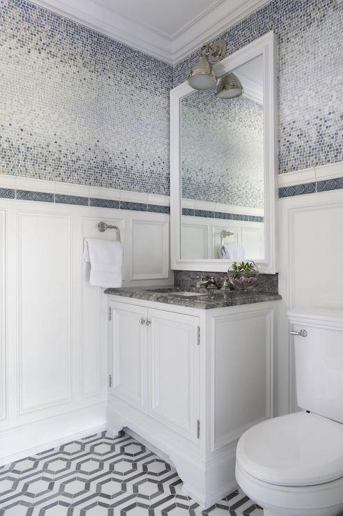 Ombre Tiles Contemporary Bathroom