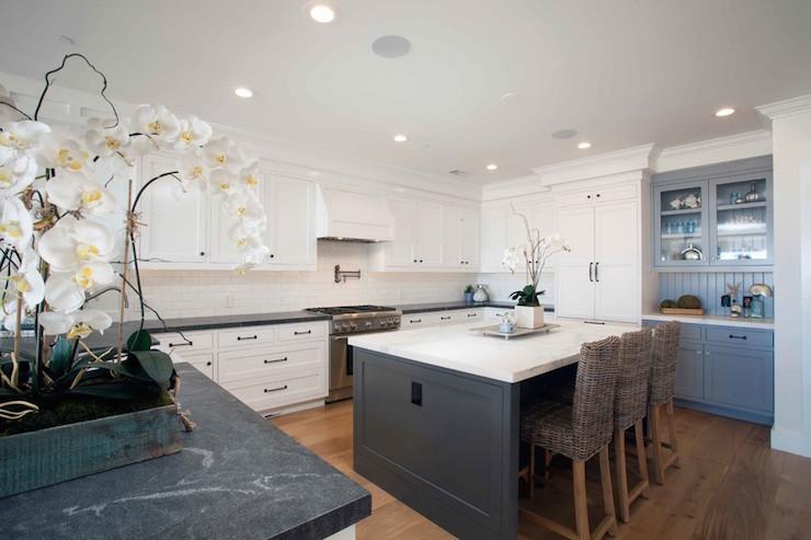 Cottage Kitchen With Soapstone Countertops Cottage Kitchen