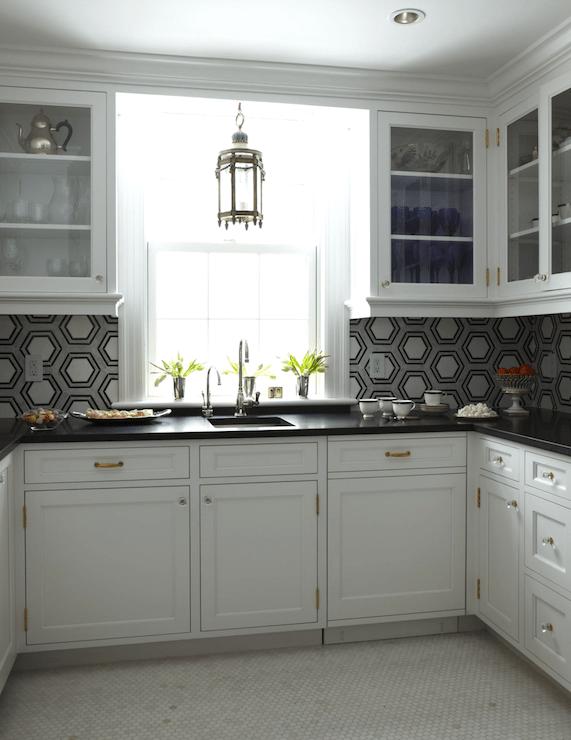 U Shaped Butlers Pantry Transitional Kitchen
