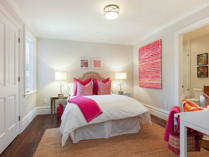 Teen Bedroom with Mirrored Nightstands - Transitional ... on Beige Teen Bedroom  id=27935