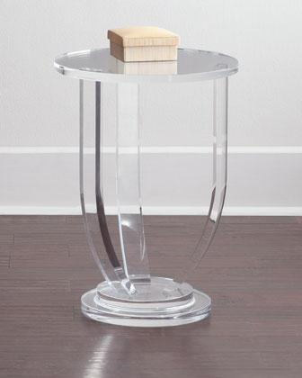 Casper Clear Acrylic Side Table Round Small Tables For