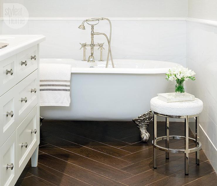 porcelain wood like tile floor