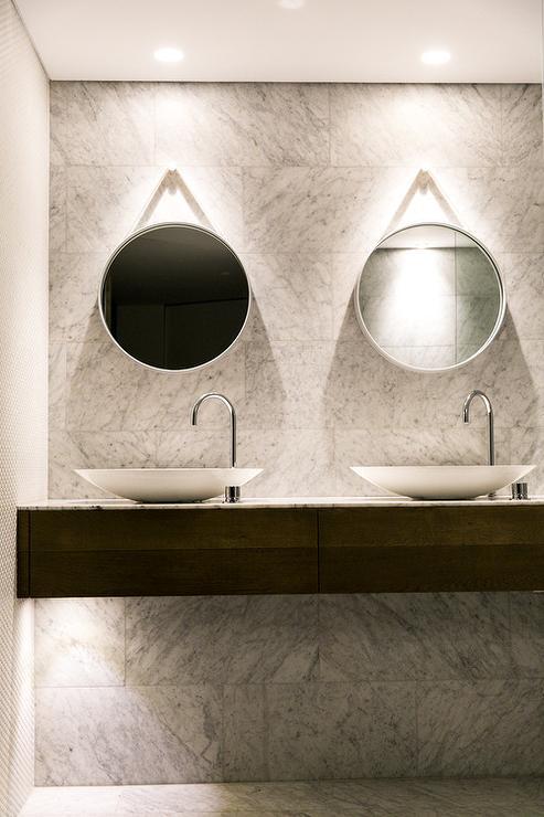 Floating Bathroom Vanity With Bowls Sinks Modern Bathroom
