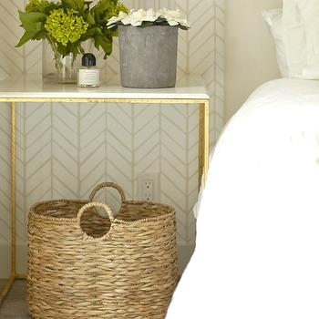 Marble Top Nightstand Transitional Bedroom Farrow