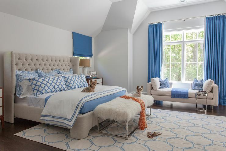 blue and beige bedrooms - transitional - bedroom