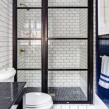 black and white basket weave tiles