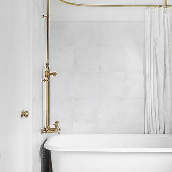 oval shower rod design ideas