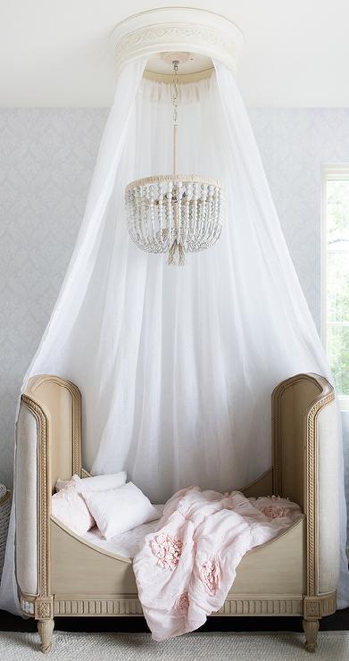 Belle Upholstered Toddler Bed Transitional Girls Room