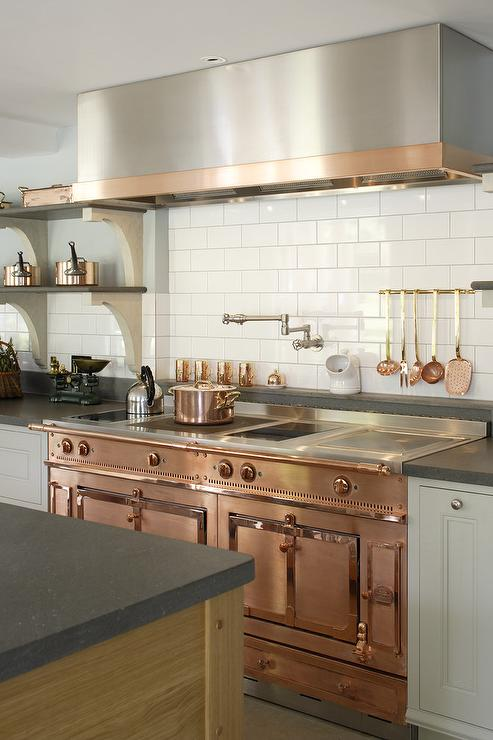 Copper La Cornue Range Cottage Kitchen