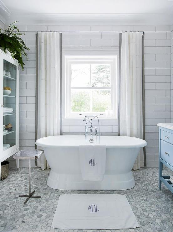 Bathroom With Cafe Curtains Transitional Bathroom
