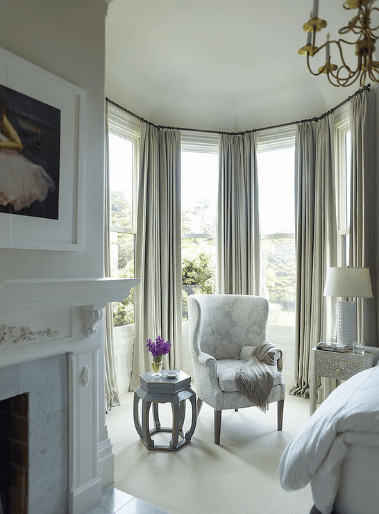 Window treatments for bay windows in bedroom for Bedroom bay window treatments