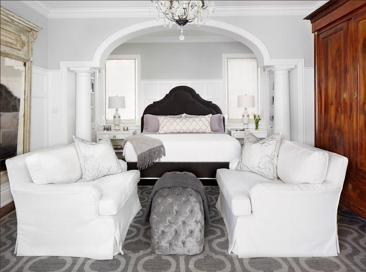 Bedroom With Doric Columns Transitional Bedroom