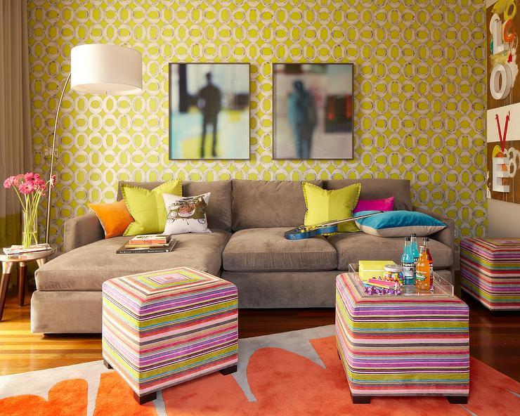 Paisley Wallpaper Contemporary Boy39s Room Liz Caan