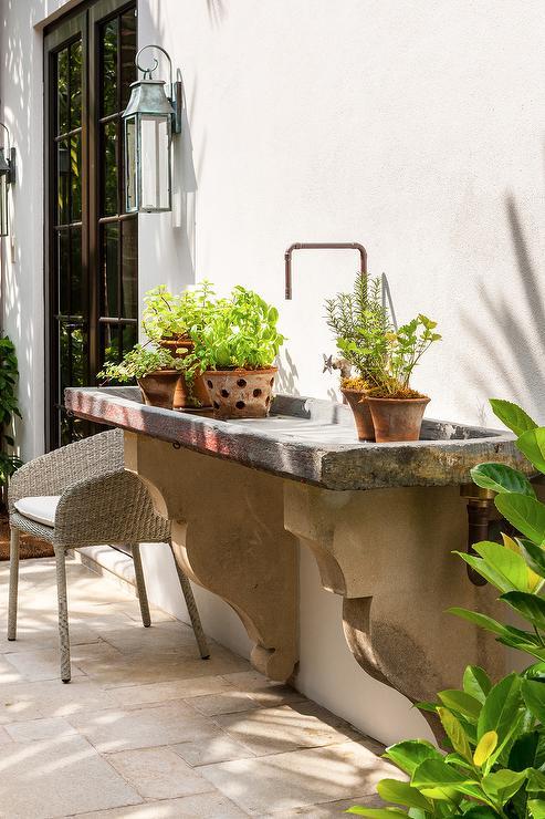 Outdoor Concrete Garden Sink - Transitional - Garden on Outdoor Patio Sink id=84512