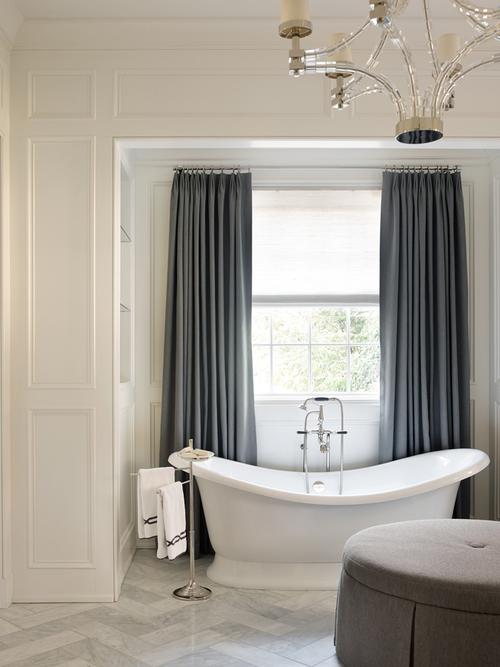 Master Bedroom Bathtub Transitional Bathroom