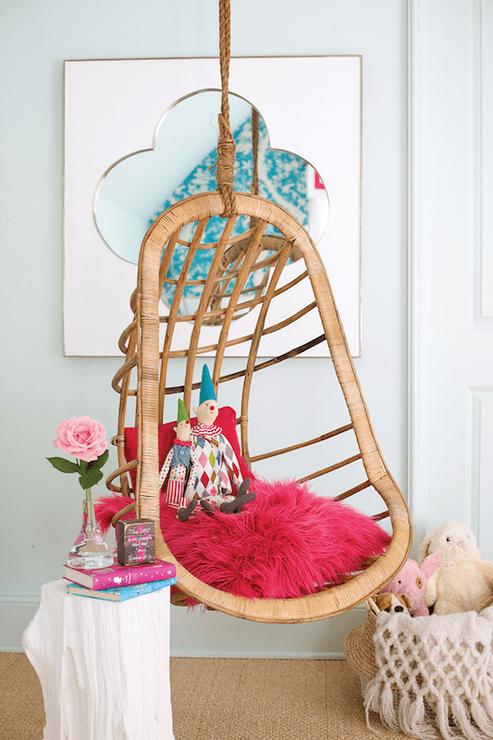 Chair Floral Accent Blue