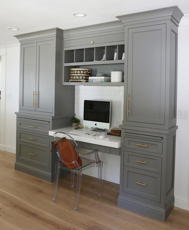 Office Desk Grey Decor