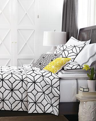 trina turk black and white trellis bedding