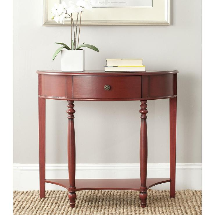 Small Distressed Red Console Table