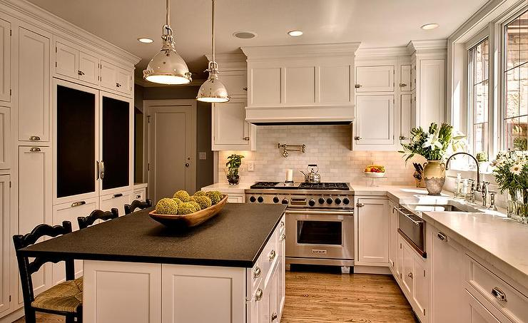 Honed Carrera Marble Countertops - Transitional - Kitchen ... on Kitchens With Black Granite Countertops  id=48504