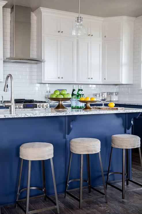 Gray And Blue Granite Countertops Transitional Kitchen