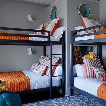 Orange And Navy Kids Room Design Ideas