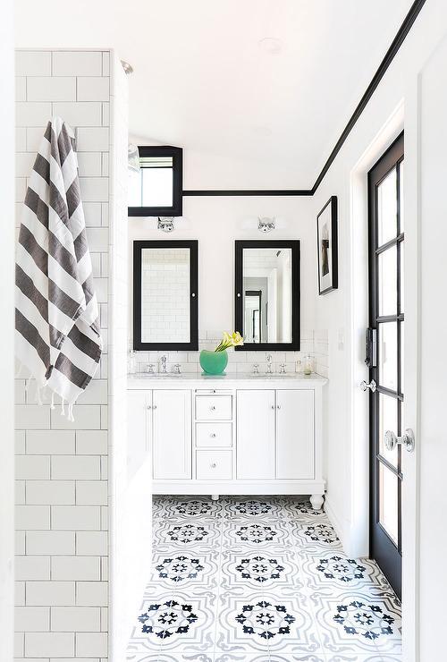 gray moroccan tile bathroom floor tiles