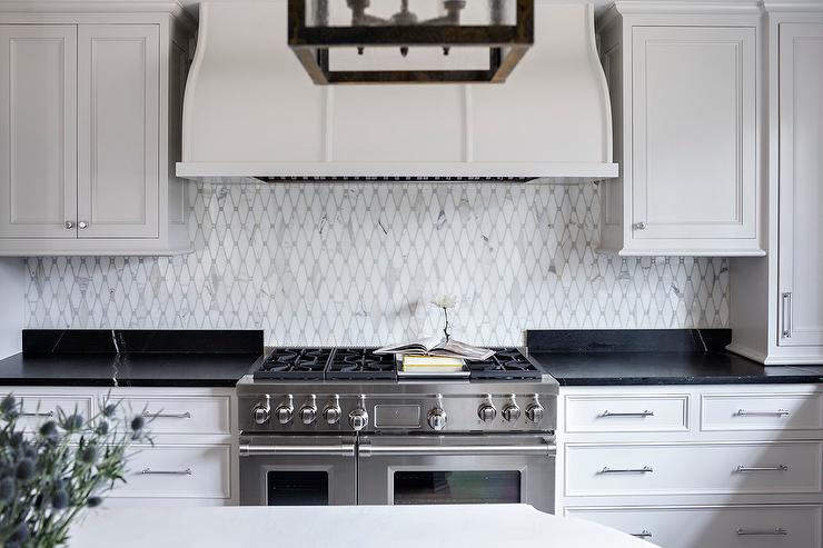 Black Countertops with White Veining - Transitional - Kitchen on Kitchen Backsplash With Black Countertop  id=69504