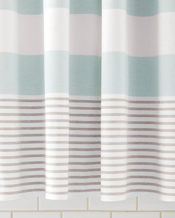 fouta aqua shower curtain