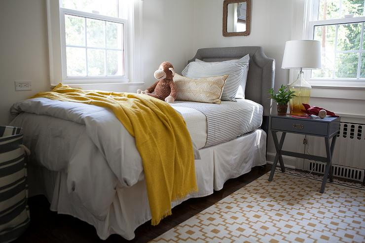 Yellow And Gray Boys Bedroom With Ikea Alvine Ruta Rug