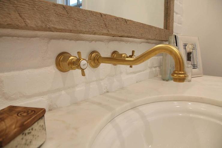 wall mount vintage antique brass
