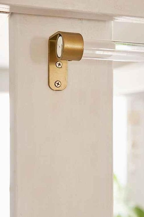 Assembly Home Clear Acrylic Curtain Rod