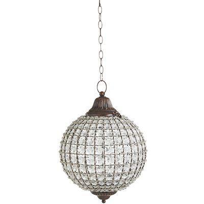 Gem Round Clear Hanging Lantern