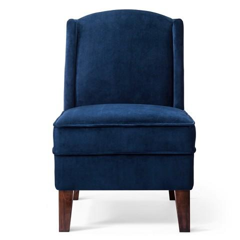 Massoud Stella Oversized Blue Chair