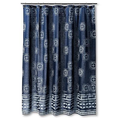 nate berkus indigo batik shower curtain