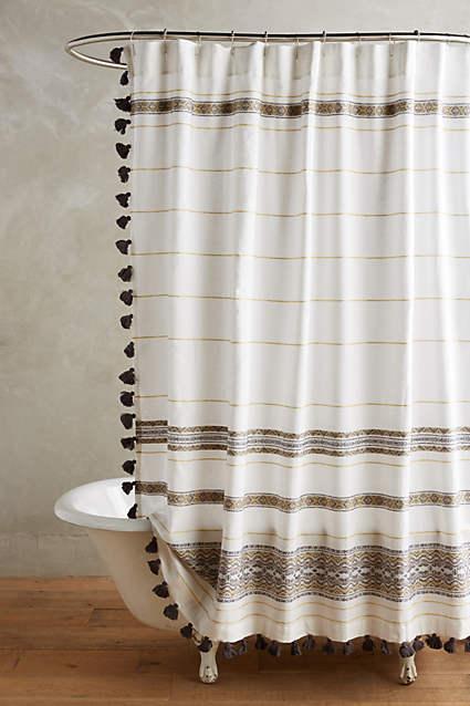 diamanta grey striped shower curtain