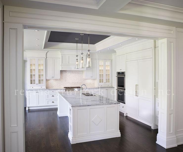 tray ceiling in kitchens design ideas