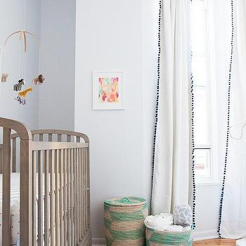 Land Of Nod Archway Crib With Serena And Lily Pink Dot Crib Sheets Transitional Nursery