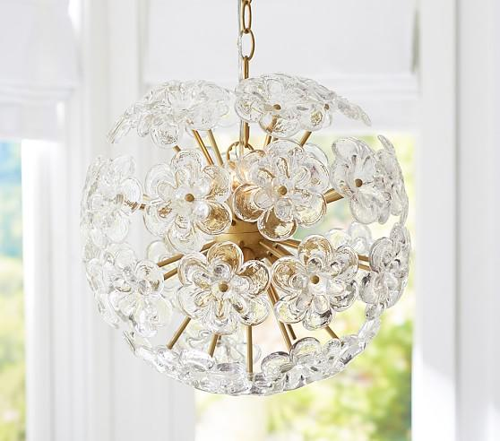 Orb Staggered Glass Chandelier