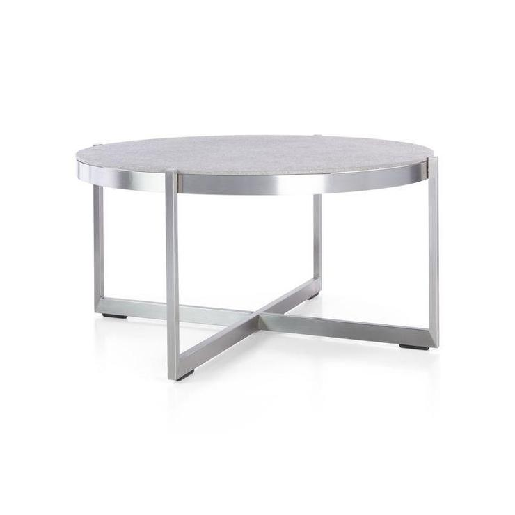 silver dune round coffee table with