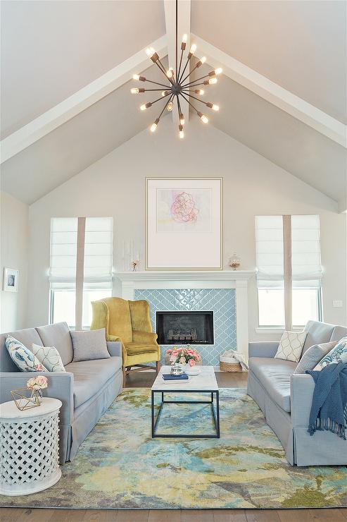 Eclectic Living Room Sherwin Williams Agreeable Gray