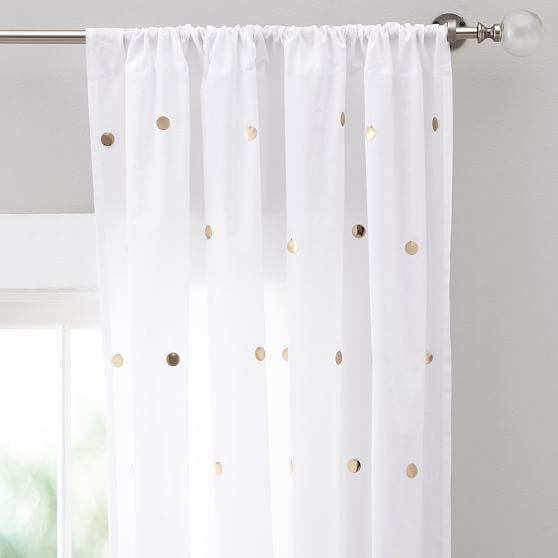 Cream Speckled Silk Curtain