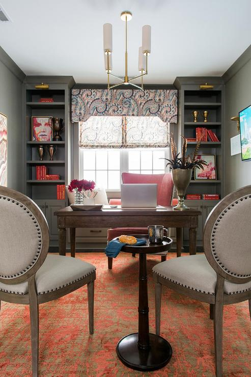 Black Accent Wall Contemporary Den Library Office