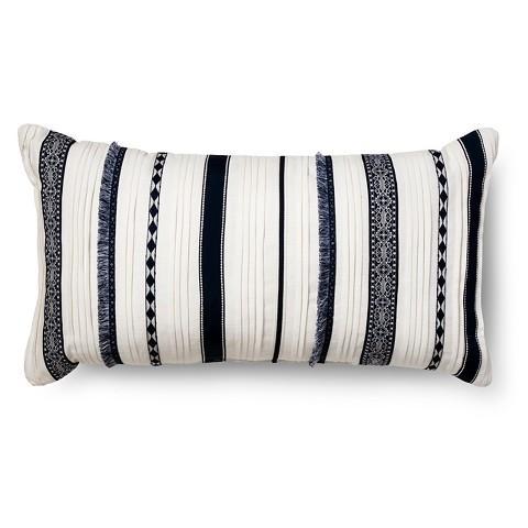 white oversized lumbar throw pillow