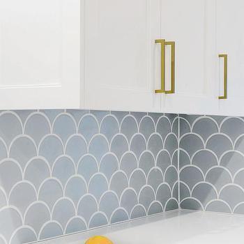 fish scale tile backsplash design ideas