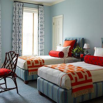 orange butterfly bolster pillow design