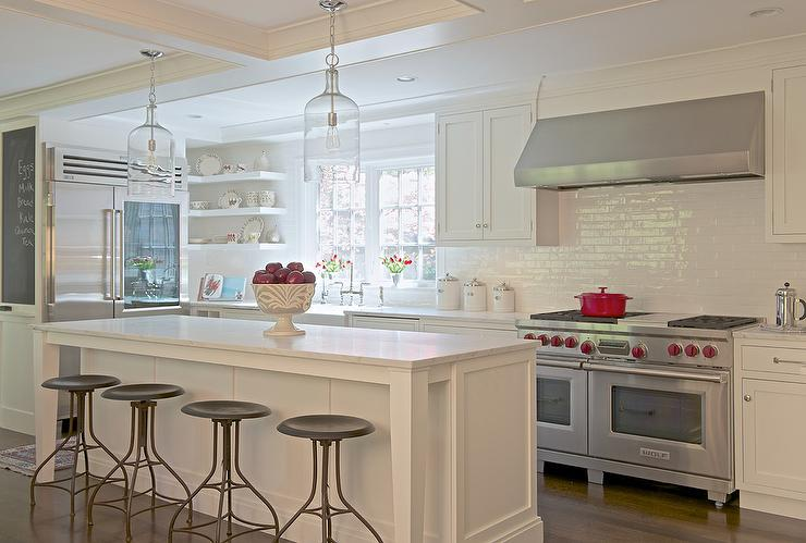 Tuxedo Kitchen With Built In Window Seat Contemporary Kitchen